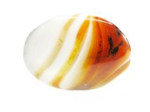 Round corlelian crystal Royalty Free Stock Photo