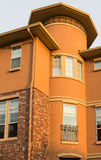 Round Corner Condo Building in Dusk Light Royalty Free Stock Photo