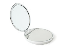 Round cosmetic mirror Stock Photo