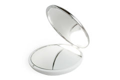 Round cosmetic mirror Stock Images