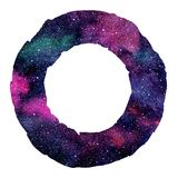 Round cosmic watercolor circle, background, frame. Royalty Free Stock Images
