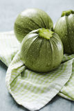 Round courgettes Royalty Free Stock Photos