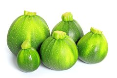 Round courgettes Stock Photo