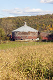 Round Cow Barn Vermont Dairy Farm Royalty Free Stock Images