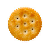 Round Cracker isolated. On white with a clipping path. Isolation is on a transparent layer in the PNG format stock photos