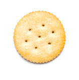 Round Cracker. Round Snack Cracker on White Stock Images
