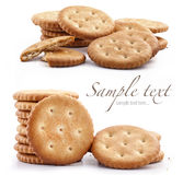 Round crackers Stock Photos