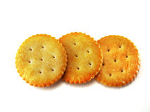 Round crackers Royalty Free Stock Images