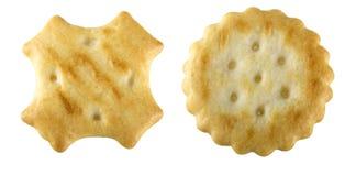 Round Crackers isolated Royalty Free Stock Image