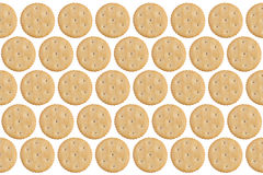 Round Crackers isolated on white Stock Image