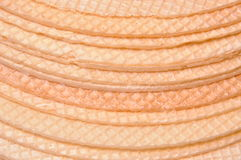 Round crispy wafer Royalty Free Stock Photography