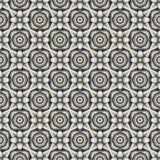 Round Cross Curve Kaleidoscope. Raster seamless pattern. Round Cross Curve Kaleidoscope gray color Stock Photos