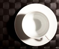 Round Cup on a saucer Royalty Free Stock Photography