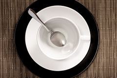 Round Cup on a saucer Royalty Free Stock Image