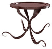 Round Curve Table. Curved Shape Round 3d Table, isolated Stock Photos