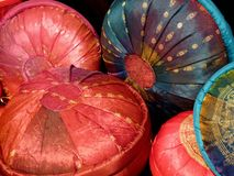Round Cushions Stock Photo