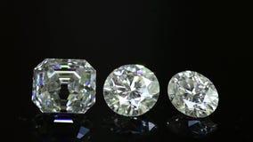 Diamond. Round cut diamond brilliance. Diamond shining stock footage