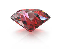 Round cut ruby Stock Photos