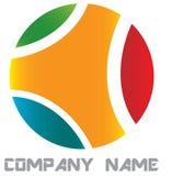 Round cutout logo Stock Image