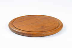 Round cutting board with groove Stock Image