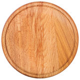 Round cutting board. Top view Royalty Free Stock Photos