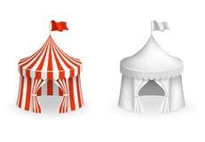 Round cyrkowy namiot Festiwal z wejściową wektorową ilustracją ilustracja wektor