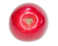 Round czerwony jabłko na lekkim tle Zdjęcie Royalty Free