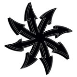 Round 3d arrow (Black). Black round 3d arrow on a white background Royalty Free Stock Photography