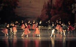 Round dance-ballet Swan Lake Stock Photo