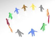Round dance of color mans Stock Image