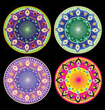 Round deco ornament set Stock Image