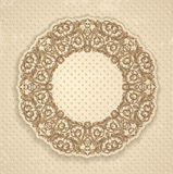 Round decorated frame Royalty Free Stock Photography