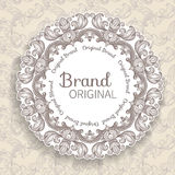 Round decorated frame Royalty Free Stock Images