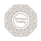 Round decorated frame Royalty Free Stock Image