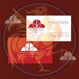 Round decorative business card logo. Vector vector illustration