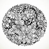 Round decorative element for processing imaginary flowers Stock Photo
