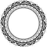 Round decorative frame border design Royalty Free Stock Image