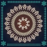 Round decorative frames with ornaments Royalty Free Stock Photography