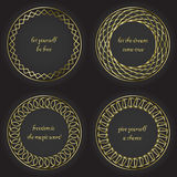 Round decorative frames set Royalty Free Stock Photos