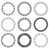 Round vector decorative frames - set Stock Photos
