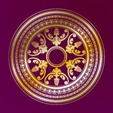 Round decorative golden ornament Royalty Free Stock Photography