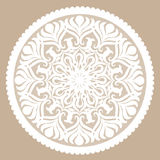 Round decorative lacy element Stock Images