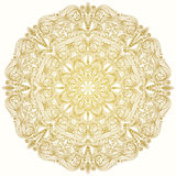 Round decorative lacy vintage ornament. Round vector pattern Stock Images
