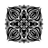 Round decorative ornament element. Mandala stock illustration