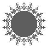 Round dekoracyjna rama Obraz Royalty Free