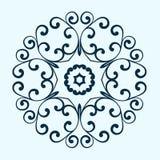 Round dekoracyjna rama abstrakcyjny kwiecisty ornament Fotografia Royalty Free