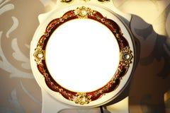 Round dekoracyjna rama lub obrazek rama obrazy stock
