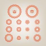 Round dekoracyjni kształty Fotografia Stock