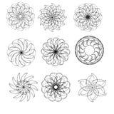 Round dekoracyjni ornamentów elementy Obraz Royalty Free