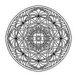 Round dekoracyjny ornamentu element mandala ilustracja wektor